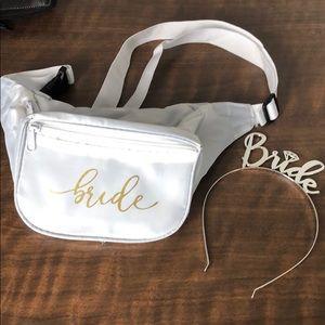 Bride - Headband Tiara & Fanny Pack